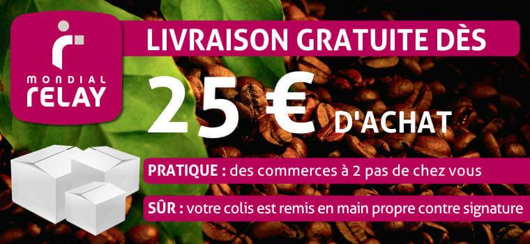 Frais de port offert d s 25 blog des caf s pfaff - Mondial relay puget sur argens ...